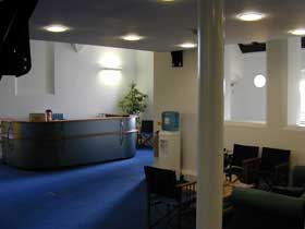 Reception seating area