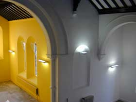 Chancel in yellow before glazing